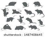 Different Mice. Mouse Yoga...