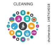 cleaning infographic circle...
