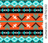 seamless colorful aztec pattern | Shutterstock .eps vector #148742102
