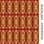 gold seamless pattern | Shutterstock .eps vector #148742318