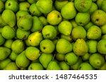 homemade  fresh and tasty pears ... | Shutterstock . vector #1487464535