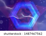 beautiful multicolored abstract ... | Shutterstock . vector #1487467562