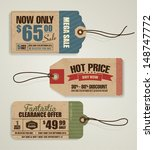price tags | Shutterstock .eps vector #148747772