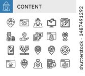 set of content icons such as...