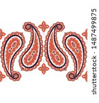 Indian Paisley Pattern Vector...
