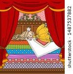 Little Princess Sleeping On A...