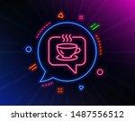 hot coffee line icon. neon...   Shutterstock .eps vector #1487556512