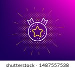 ranking star line icon.... | Shutterstock .eps vector #1487557538