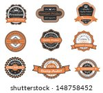 set of retro premium labels for ... | Shutterstock .eps vector #148758452