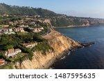 coastal aerial view of ocean... | Shutterstock . vector #1487595635