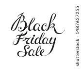 black friday sale handmade... | Shutterstock .eps vector #1487627255