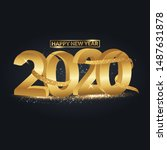 happy new year 2020 3d text...