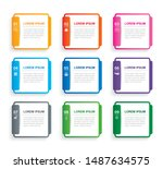 infographics rectangle paper...   Shutterstock .eps vector #1487634575