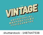 vector of stylized modern font... | Shutterstock .eps vector #1487647538