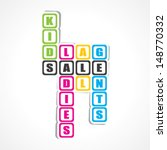 sale for ladies  gents and kids ...   Shutterstock .eps vector #148770332