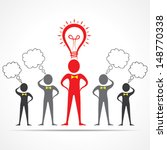 team in confusion and leader...   Shutterstock .eps vector #148770338