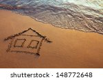 House Painted On The Beach ...