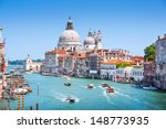 canal grande with basilica di... | Shutterstock . vector #148773935