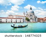 gondola on canal grande with... | Shutterstock . vector #148774325