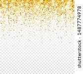 sparkling golden glitter on... | Shutterstock .eps vector #1487774978