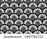 art deco with decorative... | Shutterstock .eps vector #1487781722
