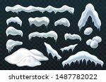 snow ice set winter roof cap... | Shutterstock .eps vector #1487782022