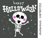 halloween character... | Shutterstock .eps vector #1487807252