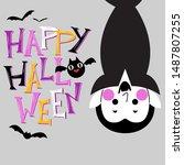 halloween character... | Shutterstock .eps vector #1487807255