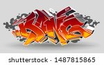 bang   wild style graffiti 3d... | Shutterstock .eps vector #1487815865