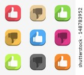thumbs up and thumbs down icons ...