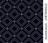 dotted seamless pattern.... | Shutterstock .eps vector #1487840612