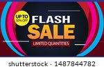 flash sale design for business. ... | Shutterstock .eps vector #1487844782