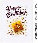 happy birthday vector... | Shutterstock .eps vector #1487848592