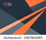 annual report  brochure  flyer... | Shutterstock .eps vector #1487863685