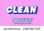 vector clean 3d bold font for... | Shutterstock .eps vector #1487867255