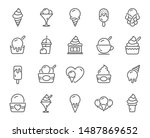 ice cream line icons. vanilla... | Shutterstock .eps vector #1487869652