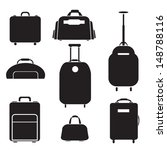 luggage set vector | Shutterstock .eps vector #148788116