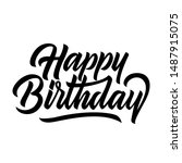 happy birthday congratulation... | Shutterstock .eps vector #1487915075