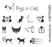 Stock vector dogs and cats 148792085