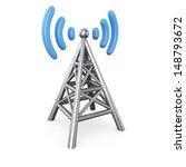 Metal Antenna Symbol Isolated...