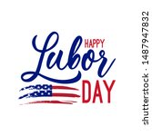 usa labor day with american... | Shutterstock .eps vector #1487947832