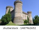 15th century Rocca Pia fortress in the center of the city of Tivoli