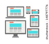 responsive web design for... | Shutterstock .eps vector #148797776