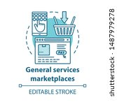 general services marketplaces...   Shutterstock .eps vector #1487979278