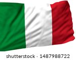 italy flag is waving in the... | Shutterstock . vector #1487988722