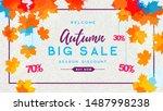 autumn big sale watercolor... | Shutterstock .eps vector #1487998238