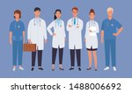 doctors team. medical staff... | Shutterstock .eps vector #1488006692
