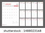 wall calendar for 2020 year in... | Shutterstock .eps vector #1488023168