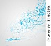 futuristic technology...   Shutterstock .eps vector #148803446