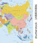 asia  highly detailed map.all... | Shutterstock .eps vector #148804886